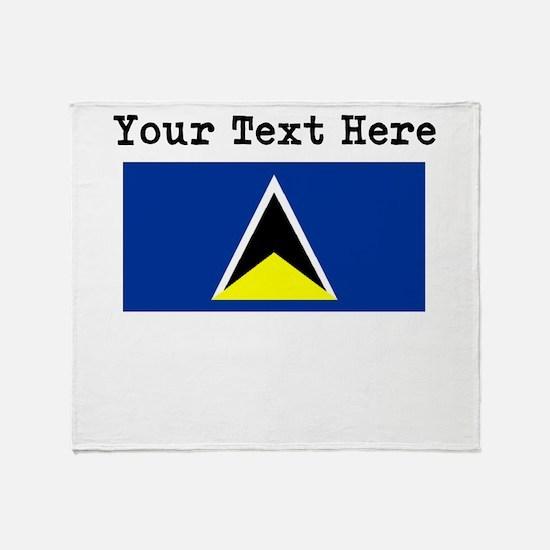 Custom St Lucia Flag Throw Blanket