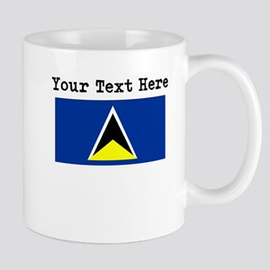 Custom St Lucia Flag Mugs