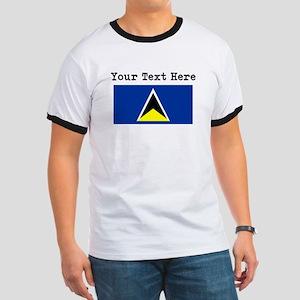 Custom St Lucia Flag T-Shirt