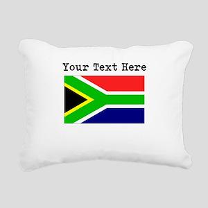 Custom South Africa Flag Rectangular Canvas Pillow