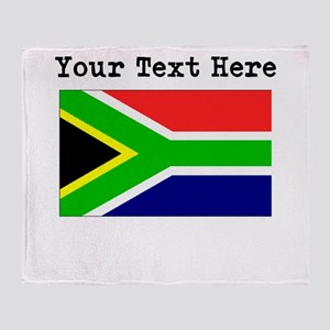 Custom South Africa Flag Throw Blanket