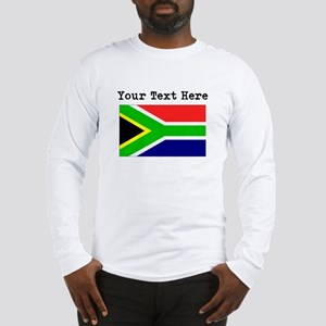 Custom South Africa Flag Long Sleeve T-Shirt