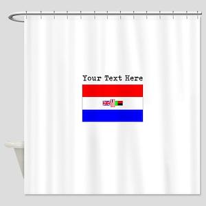 Custom Old South Africa Flag Shower Curtain