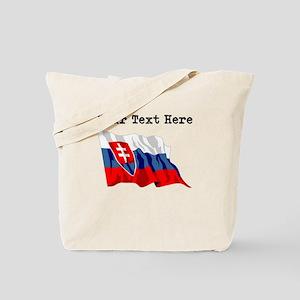 Custom Slovakia Flag Tote Bag