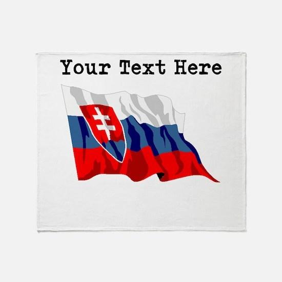 Custom Slovakia Flag Throw Blanket