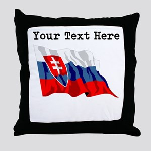 Custom Slovakia Flag Throw Pillow