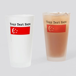Custom Singapore Flag Drinking Glass