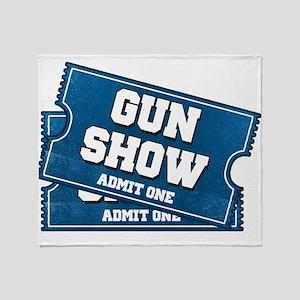 Gun Show Tickets Throw Blanket