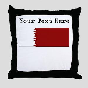 Custom Qatar Flag Throw Pillow
