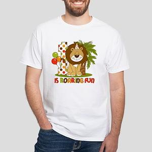 Cute Lion 1st Birthday White T-Shirt