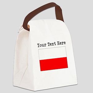 Custom Poland Flag Canvas Lunch Bag