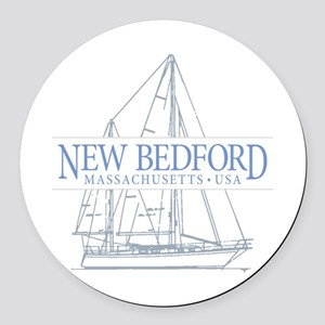 New Bedford - Round Car Magnet