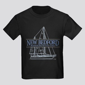 Massachusetts souvenirs gifts cafepress new bedford kids dark t shirt negle Image collections
