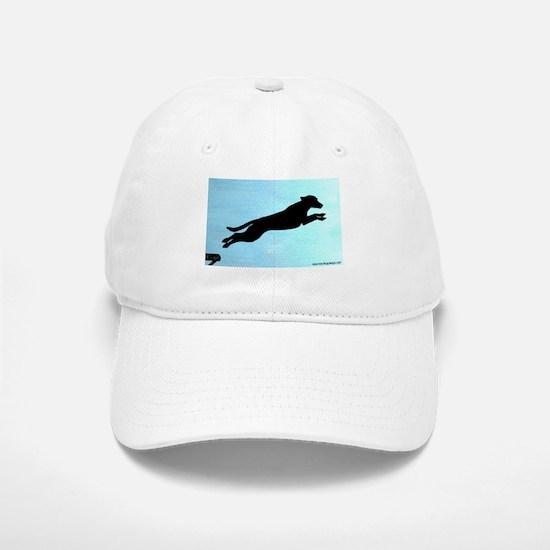 Dock Jumping Labrador Dog Baseball Baseball Cap