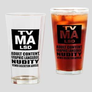 Viewer Discretion Advised Drinking Glass