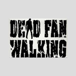 Dead Fan Walking Rectangle Magnet