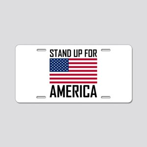 Stand Up For America Flag National Anthem Aluminum
