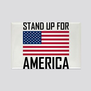 Stand Up For America Flag National Anthem Magnets
