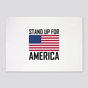 Stand Up For America Flag National Anthem 5'x7'Are
