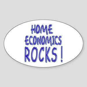 Home Economics Rocks ! Oval Sticker