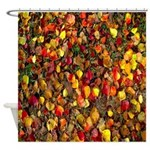 Colorful Fall Leaves Autumn Shower Curtain