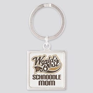 Schnoodle Mom Square Keychain
