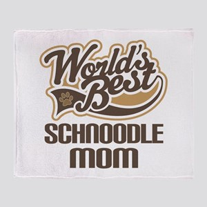 Schnoodle Mom Throw Blanket