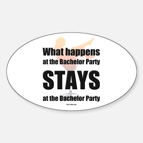 Bachelor party Oval Decal
