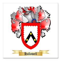 Hallowell Square Car Magnet 3