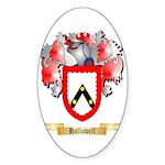 Hallowell Sticker (Oval 50 pk)