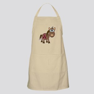Burgundy Awareness Ribbon Pony BBQ Apron