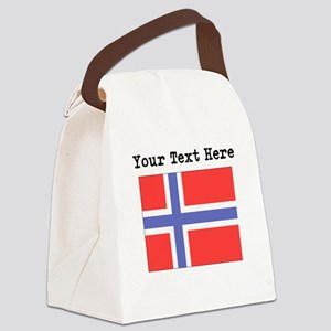 Custom Norway Flag Canvas Lunch Bag