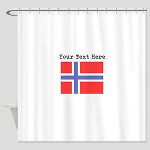Custom Norway Flag Shower Curtain