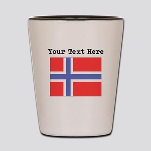 Custom Norway Flag Shot Glass