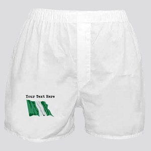 Custom Nigeria Flag Boxer Shorts