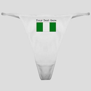 Custom Nigeria Flag Classic Thong