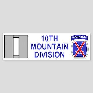 10th Mountain Division<BR>Captain Bumper Sticker