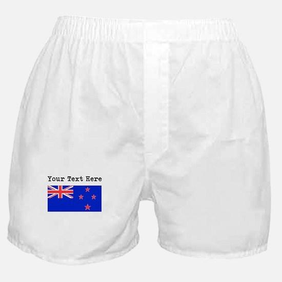 Custom New Zealand Flag Boxer Shorts