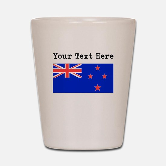 Custom New Zealand Flag Shot Glass