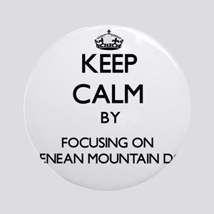 Keep calm by focusing on Pyrenean Ornament (Round)