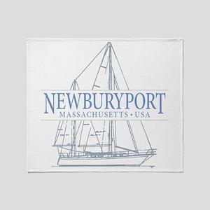 Newburyport MA - Throw Blanket