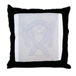 Pearl Awareness Angel Throw Pillow