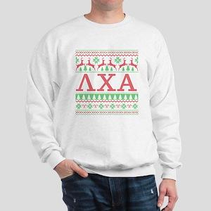 Lambda Chi Alpha Ugly Christmas Sweatshirt