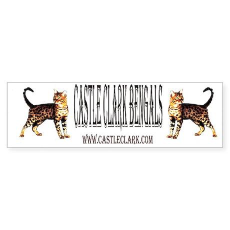 Castle Clark Bengal Cat: Raja Bumper Sticker