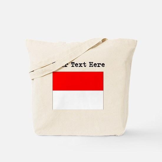 Custom Monaco Flag Tote Bag
