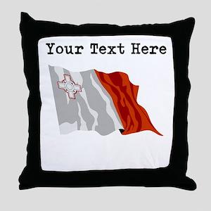 Custom Malta Flag Throw Pillow