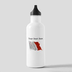 Custom Malta Flag Water Bottle