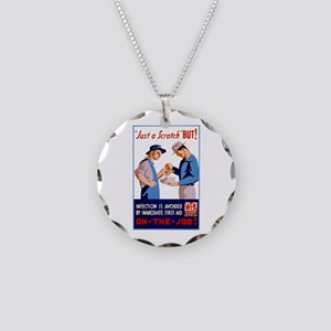Just a Scratch Necklace Circle Charm