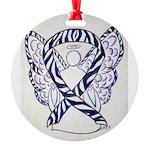 Zebra Awareness Ribbon Ornament