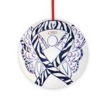 Zebra Awareness Ribbon Ornament (Round)